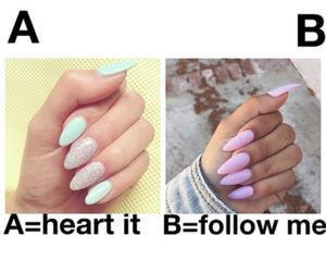 nails, follow, and b image