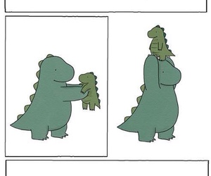 dinosaur, funny, and elevator image