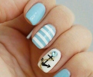nails, art, and blue image