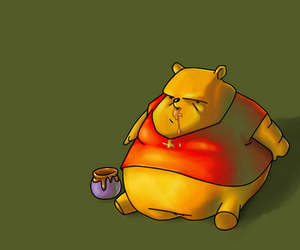 fat, honey, and pooh image
