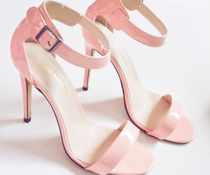 pink, shoes, and love image