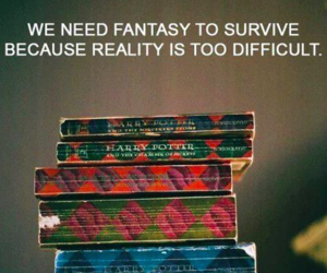 books, fantasy, and harry potter image