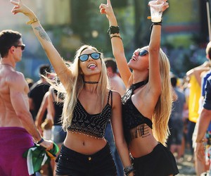 girl, friends, and festival image