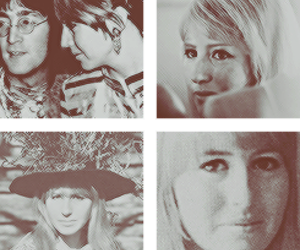 black & white, john lennon, and cynthia lennon image