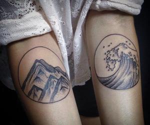tattoo, mountains, and tumblr image