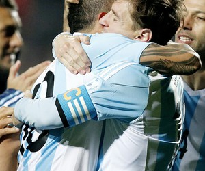 football, messi, and argentina image