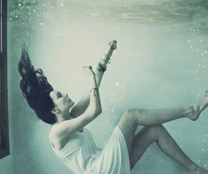 alternative, girl, and water image