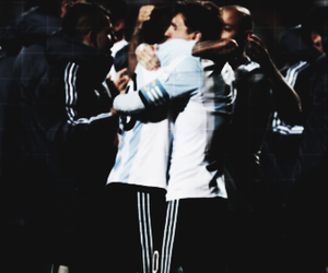 argentina, messi, and tevez image