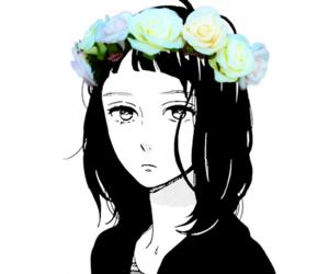 anime, anime girl, and flower crown image