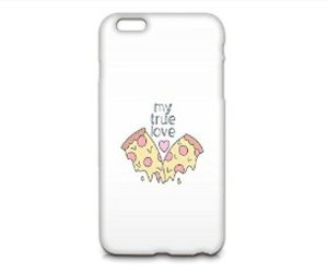 pizza, true love, and phone case image