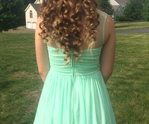 blonde, brunette, and curled image