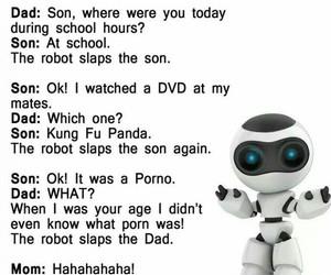 funny, robot, and lies image