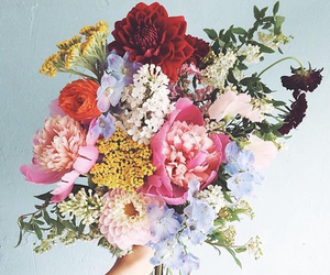 beautiful, bouquet, and colorfull image