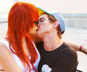 boy, kiss, and redhead image