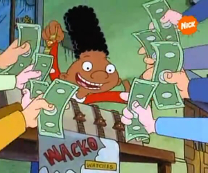 90s, cartoons, and money image