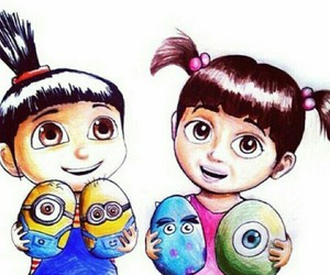 agnes, boo, and minions image