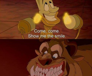 disney, smile, and beauty and the beast image