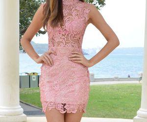 dress, fashion, and lacey image