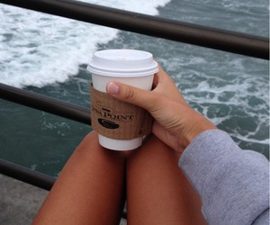 coffee, girl, and legs image