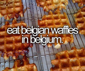 waffles, food, and belgium image