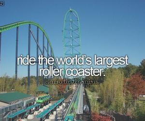 bucket list, Roller Coaster, and bucketlist image