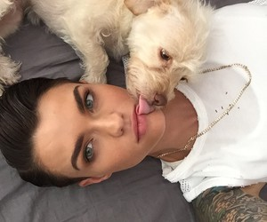 ruby rose, dog, and tattoo image