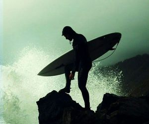 surfing, surf, and peace image