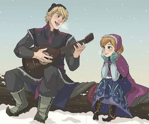 frozen, anna, and kristoff image