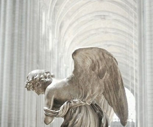 angel, white, and sculpture image