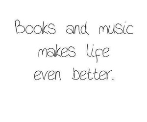 book, music, and life image