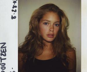 model, Doutzen Kroes, and polaroid image