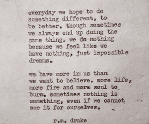 quote, Drake, and Dream image