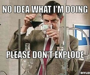 chemistry and mr bean image