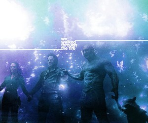 guardians of the galaxy, gamora, and peter quill image