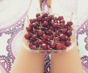 bed, cherries, and fitness image
