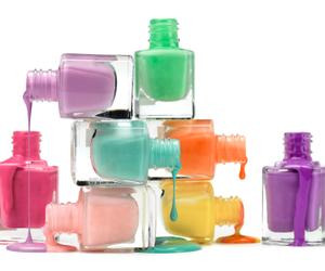 nails, nail polish, and polish image