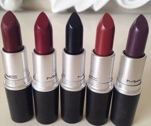 black, cool, and lipstick image