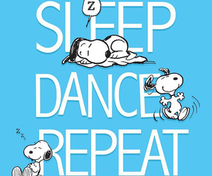 snoopy, dance, and repeat image