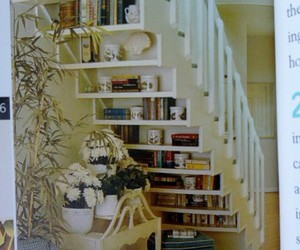bookcase, dream home, and dream house image