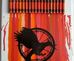 the hunger games, art, and catching fire image