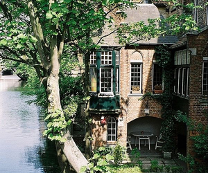 house, home, and river image