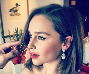 emilia clarke, make up, and game of thrones image