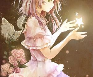 anime, stars, and angel image