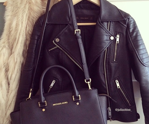 fashion, bag, and jacket image