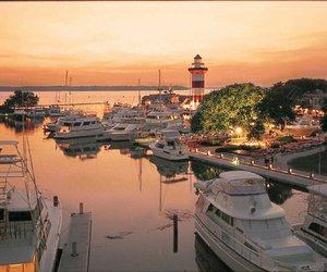 ocean, yacht, and hilton head island image