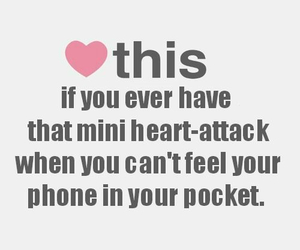 heart, phone, and heart attack image