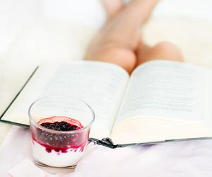 book, food, and berries image