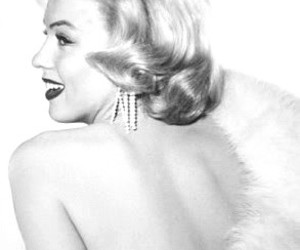 black and white, Marilyn Monroe, and marylin monroe image