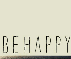 happy, beach, and be image