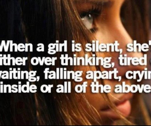 girl, quote, and silent image